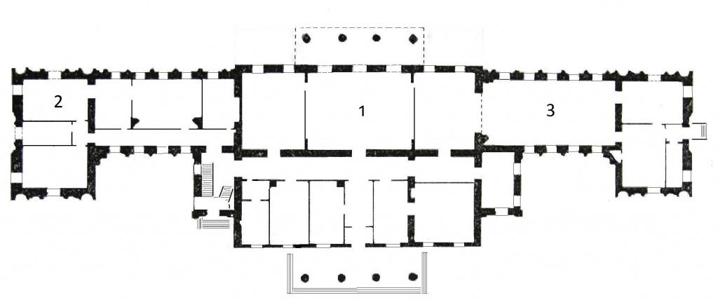 план дома балкон 1-го эт.